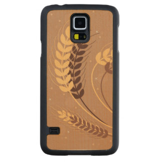 Wheat Ears Carved Maple Galaxy S5 Case
