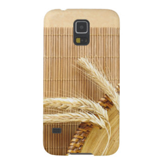 Wheat Ears On Wooden Plate Case For Galaxy S5