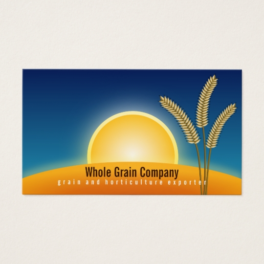 Wheat Ears at Sunrise Horticulture Business Cards