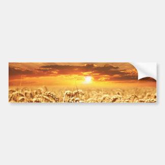 wheat-field-640960 WHEATFIELD WHEAT SUNRISE SUNSET Bumper Sticker