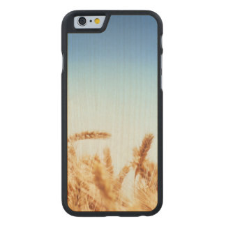 Wheat field against blue sky carved maple iPhone 6 case