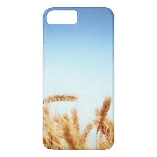 Wheat field against blue sky iPhone 7 plus case