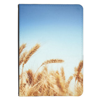 Wheat field against blue sky kindle cover