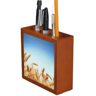 Wheat field against blue sky Pencil/Pen holder
