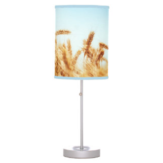 Wheat field against blue sky table lamps