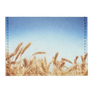 Wheat field against blue sky tyvek® card wallet
