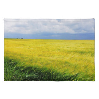 Wheat field cloth placemat