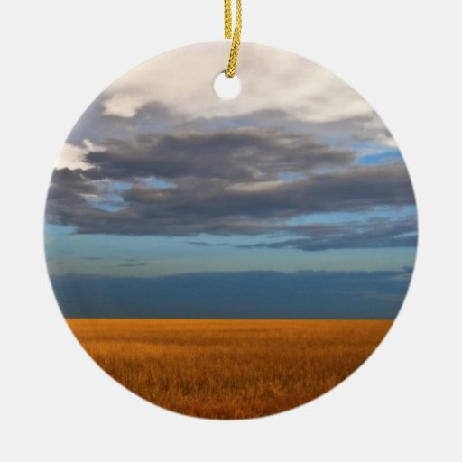 Wheat Field Fine Oil Painting Christmas Ornaments