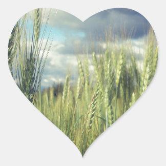 Wheat Field Heart Stickers