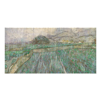 Wheat Field in Rain by Vincent Van Gogh Card