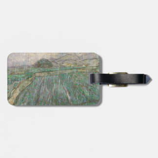 Wheat Field in Rain by Vincent Van Gogh Bag Tag