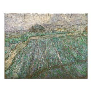 Wheat Field in Rain by Vincent Van Gogh Photo Print