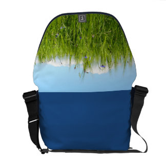 Wheat field in spring / Weizenfeld Courier Bag