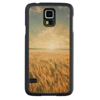 Wheat field on sunset carved maple galaxy s5 case