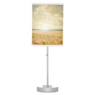 Wheat field on sunset table lamp