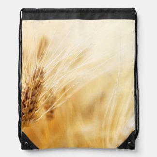 Wheat field cinch bags