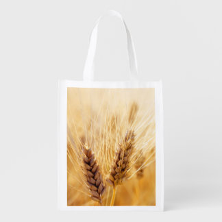 Wheat field reusable grocery bag