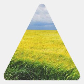 Wheat field triangle sticker