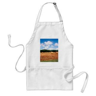 Wheat Field Under Blue Skies Farm Landscape Photo Adult Apron