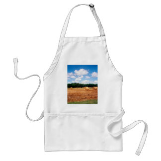 Wheat Field Under Blue Skies Farm Landscape Photo Apron