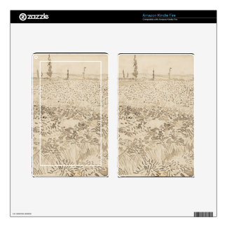 Wheat Field - Van Gogh Skin For Kindle Fire
