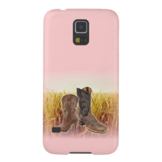 Wheat Field western country cowboy boots Galaxy S5 Case