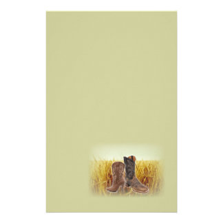 Wheat Field western country cowboy boots Stationery