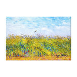 Wheat Field with a Lark by Vincent Van Gogh Gallery Wrapped Canvas