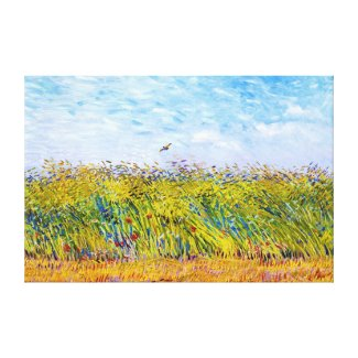 Wheat Field with a Lark by Vincent Van Gogh Canvas Print