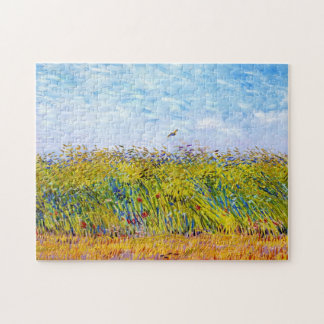 Wheat Field with a Lark by Vincent Van Gogh Jigsaw Puzzle