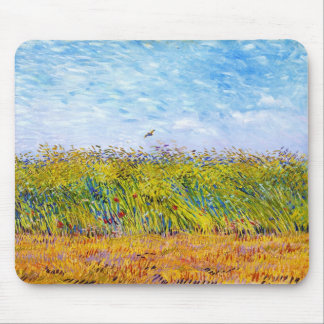 Wheat Field with a Lark by Vincent Van Gogh Mouse Pad