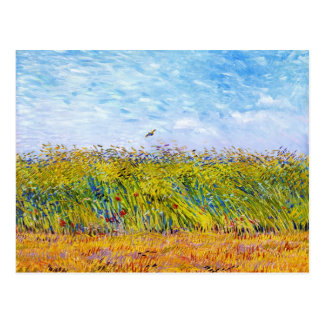 Wheat Field with a Lark by Vincent Van Gogh Postcard