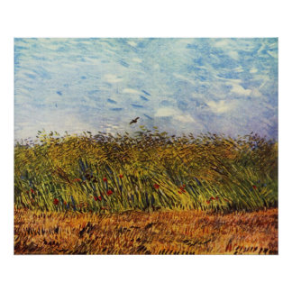 Wheat Field with a Lark Poster