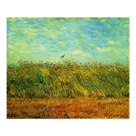 Wheat Field with a Lark (van Gogh) Poster