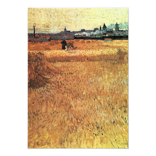 Wheat field with a view of Arles by van Gogh Card