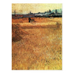 Wheat field with a view of Arles by van Gogh Postcard