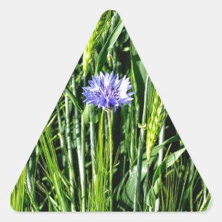 Wheat field with Cornflower Triangle Sticker