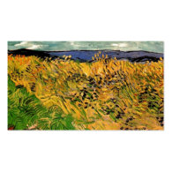 Wheat Field with Cornflowers by Van Gogh. Business Cards