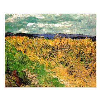 Wheat Field with Cornflowers by Van Gogh. Flyer