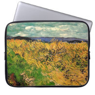 Wheat Field with Cornflowers by Van Gogh. Computer Sleeve