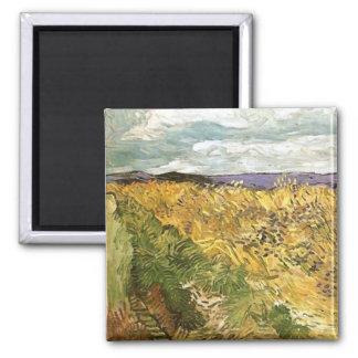 Wheat Field with Cornflowers Van Gogh Fine Art 2 Inch Square Magnet