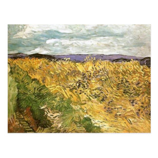 Wheat Field with Cornflowers, Vincent van Gogh Post Cards