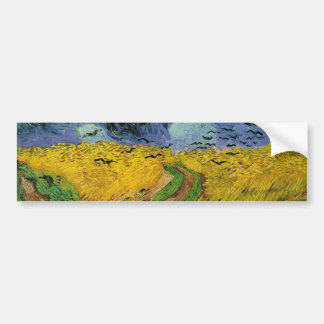 Wheat Field with Crows Bumper Sticker