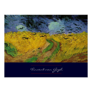 Wheat Field with Crows by van Gogh Poster Print