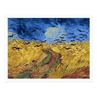 Wheat Field with Crows by Vincent van Gogh Postcard