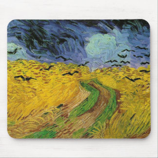 Wheat Field with Crows Mouse Pad