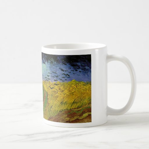 Wheat Field with Crows Mugs