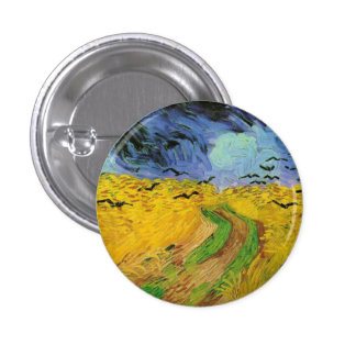 Wheat Field with Crows Pinback Button