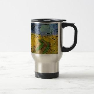 Wheat Field with Crows Travel Mug