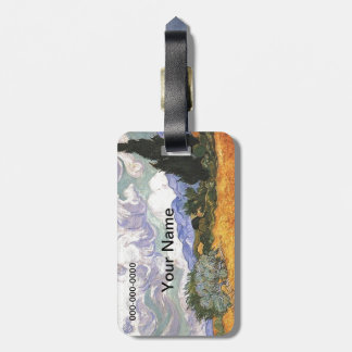 Wheat Field with Cypress by Van Gogh. Bag Tag